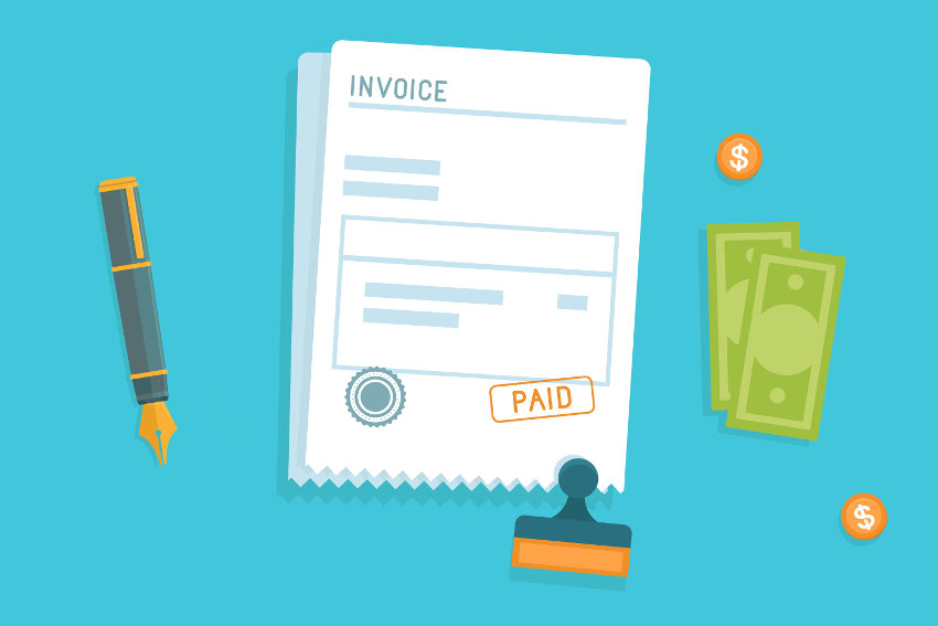 Paid invoice using factoring service
