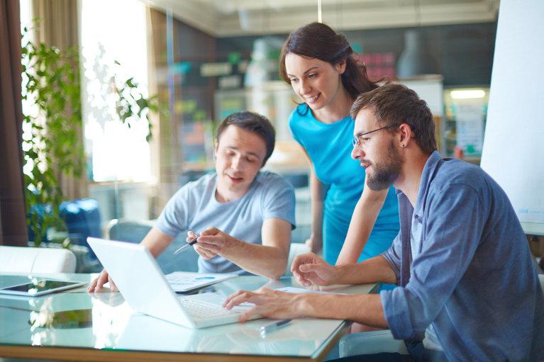 Business team members in a meeting