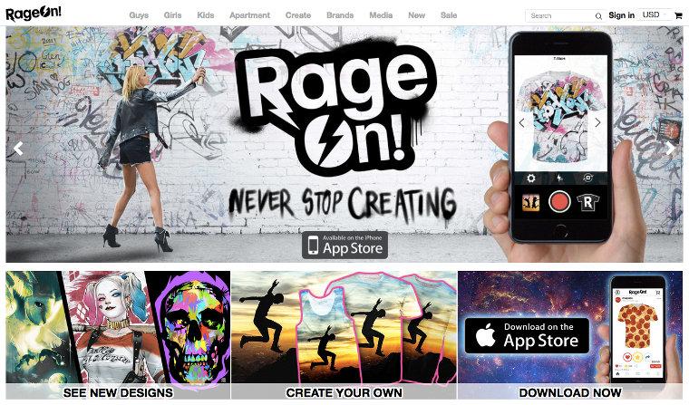 RageOn website screenshot