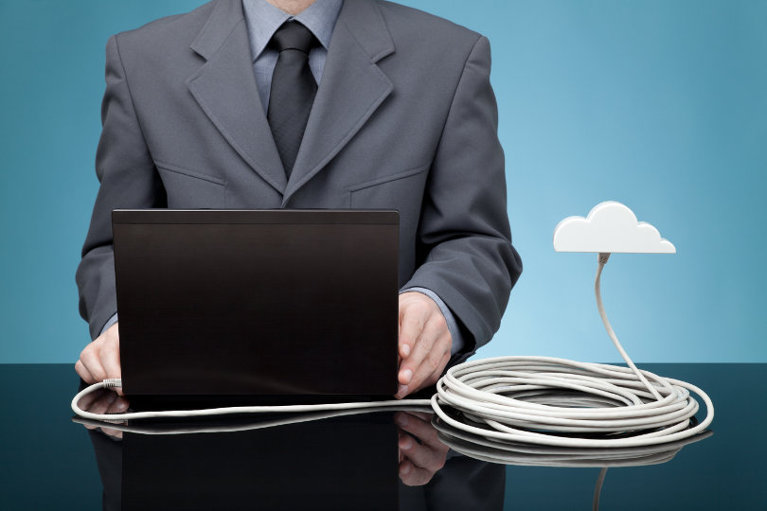 Online business owner using cloud services and tools