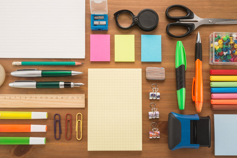 Tidy office supplies